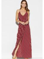 Платье «Санторини» цвета марсала