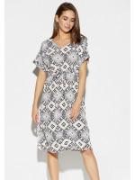 Платье «Антония» с комбинированным принтом