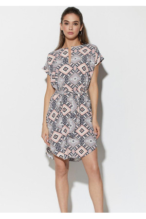 Платье «Санси» с комбинированным принтом