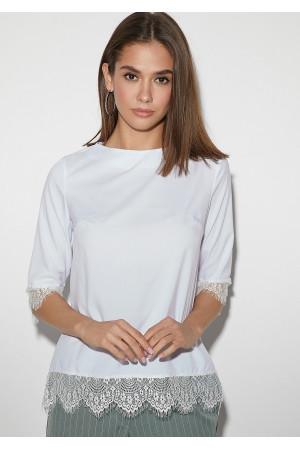 Блуза «Мэри» белого цвета