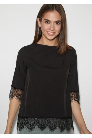 Блуза «Мэри» черного цвета