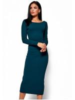 Платье «Рамина» темно-зеленого цвета