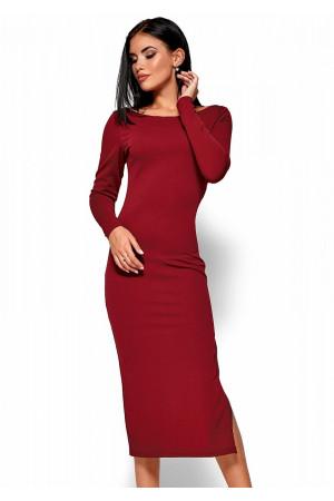 Платье «Рамина» цвета марсала