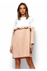 Платье «Ванесса» бежевого цвета