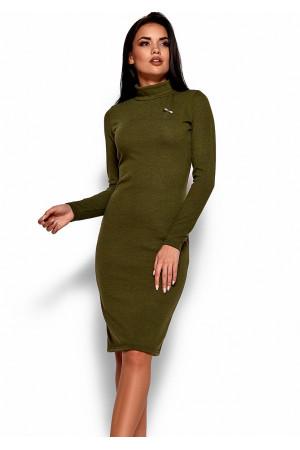Платье «Брюс» цвета хаки