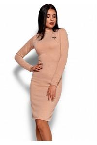 Платье «Брюс» бежевого цвета