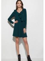 Платье «Лотус» темно-зеленого цвета