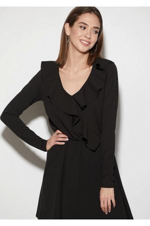 Платье «Лотус» черного цвета