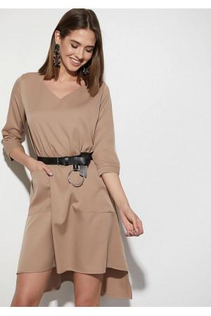 Платье «Брюссель» темно-бежевого цвета