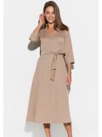 Платье «Тайра» темно-бежевого цвета