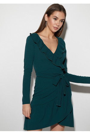 Платье «Акура» темно-зеленого цвета