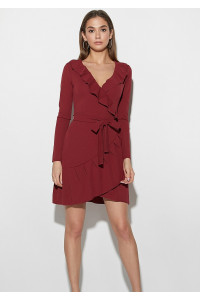 Платье «Акура» бордового цвета