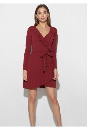 Сукня «Акура» бордового кольору