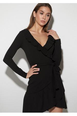 Платье «Акура» черного цвета