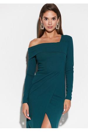 Платье «Космо» темно-зеленого цвета