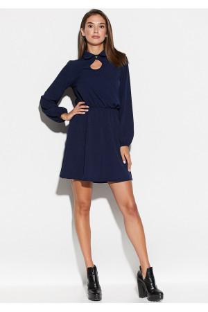 Платье «Мирта» темно-синего цвета