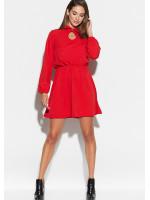 Платье «Мирта» красного цвета