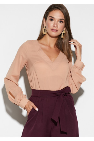 Блуза «Зетта» бежевого цвета