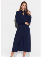 Платье «Юста» темно-синего цвета
