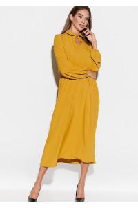 Платье «Юста» горчичного цвета