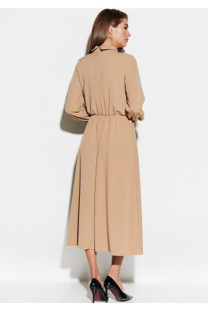 Платье «Юста» бежевого цвета