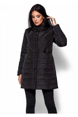 Жіноче пальто «Періс» чорного кольору