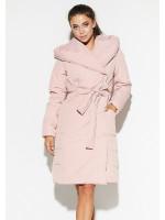 Женское пальто «Сантино» пудрового цвета