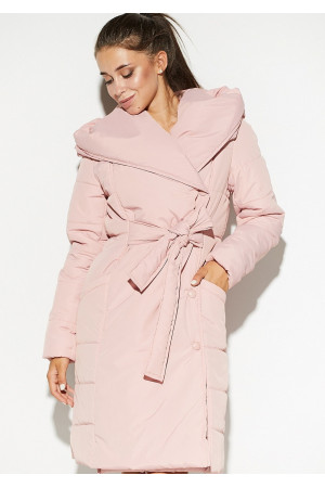 Жіноче пальто «Сантіно» пудрового кольору
