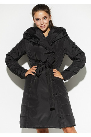 Жіноче пальто «Сантіно» чорного кольору