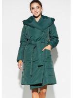Женское пальто «Сантино» темно-зеленого цвета