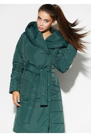Жіноче пальто «Сантіно» темно-зеленого кольору