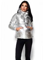 Куртка жіноча «Мішель» сріблястого кольору