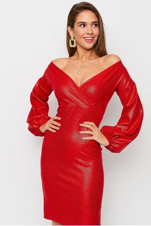 Платье «Асти» красного цвета