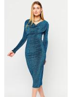Сукня «Теона» бірюзового кольору