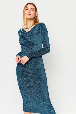 Платье «Теона» бирюзового цвета