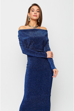 Платье «Теона» синего цвета