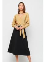 Платье «Надин» золотистого цвета