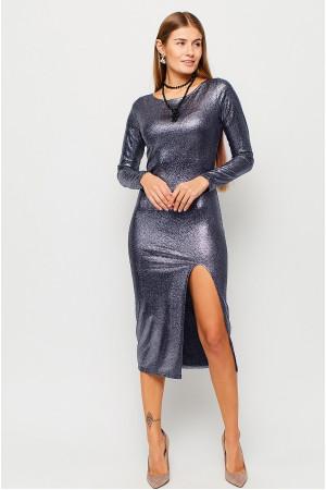 Платье «Муза» темно-синего цвета