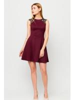 Платье «Брют» цвета марсала
