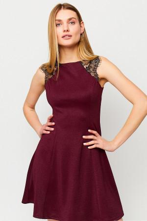 Сукня «Брют» кольору марсала