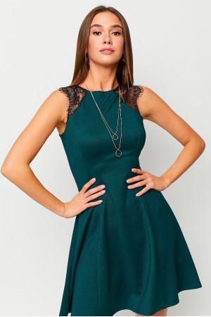 Платье «Брют» темно-зеленого цвета