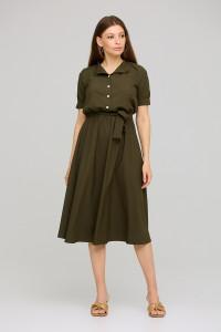 Платье «Фейт» цвета хаки