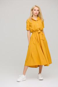 Платье «Фейт» горчичного цвета