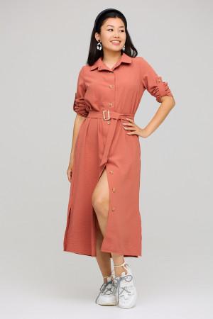 Платье «Адель» кирпичного цвета