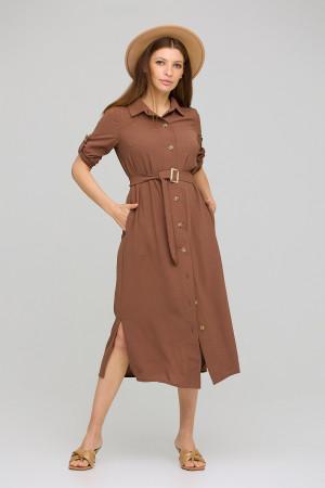 Платье «Адель» шоколадного цвета