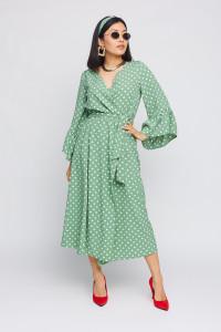 Платье «Бетти» оливкового цвета