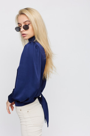 Блуза «Ариэль» синего цвета