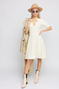 Платье «Рэй» светло-желтого цвета
