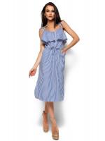 Платье «Бохо» синего цвета