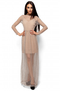 Платье «Маниша» бежевого цвета